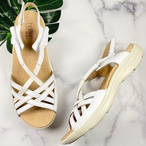 Hotter Maisie White Slingback Strappy Sandals